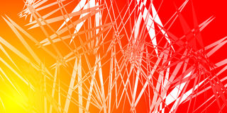 Imitation of fire crystals. Texture of red and orange broken lines in the form of a fire background Royalty Free Stock Images
