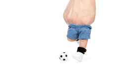 Imitation of a football with your fingers Royalty Free Stock Images