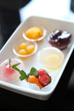 Imitation fruits desserts Stock Photography