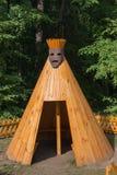 Imitation Indian tepee. Children's wooden house. Imitation Indian tepee Stock Image