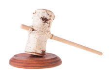 Imitation of Judge Gavel and the Soundboard Royalty Free Stock Photography