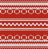 Imitation of a knitted fabric with a pattern of red and white color. Vector illustration Royalty Free Stock Photography
