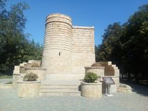 Imitation of the medieval castle `The Maiden Tower`. royalty free stock photography