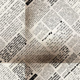 Imitation newspaper with folds Stock Image