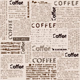 Imitation of newspaper with the inscription coffee Royalty Free Stock Photography