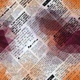 Imitation of newspaper. Seamless background pattern. Imitation of newspaper with geometric elements Royalty Free Stock Photos