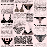 Imitation newspaper with underwear Stock Image