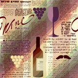 Imitation of newspaper Wine Stock Image