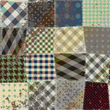 Imitation of old patchwork. Royalty Free Stock Images