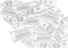 Imitation of pencil drawing of dollars Stock Images