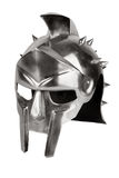 Imitation of Roman legionary helmet. On a white background Stock Images