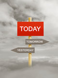 Today tomorrow yesterday Stock Photography