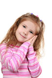 Imitation sleep. Girl gesture mimics sleep.Isolated Royalty Free Stock Images