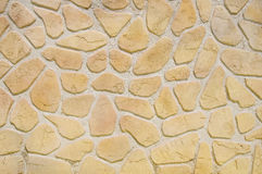 Imitation stone wall closeup Royalty Free Stock Photography
