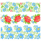 Vintage blanket with embroidery Rose seamless Royalty Free Stock Images