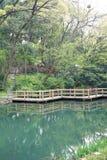 Imitation wooden bridge Royalty Free Stock Images