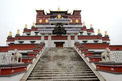 Imitazione dell'edificio del Tibet Fotografia Stock Libera da Diritti