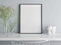 Imite encima de la composición del minimalismo del cartel, usted trabajo de arte aquí stock de ilustración