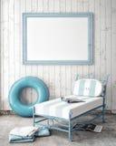 Imite encima de marco del cartel en fondo del exterior del concepto del verano Imagenes de archivo