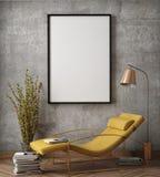Imite encima de marco del cartel en fondo interior del inconformista, foto de archivo