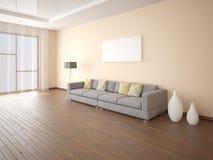 Imite encima de marco vacío del cartel en una sala de estar elegante