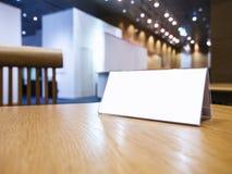 Imite encima de muestra en blanco en el evento Hall Background del escritorio Imagen de archivo libre de regalías