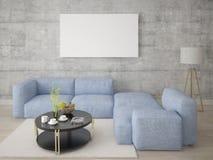 Imite encima de una sala de estar espaciosa con un sofá de la esquina cómodo libre illustration
