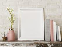 Imite encima del cartel con los libros y florece la composición, ilustración del vector