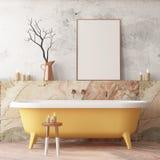 Imite encima del cartel en el cuarto de baño en un estilo moderno ilustración del vector