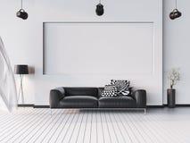 Imite encima del fondo interior, estilo moderno, 3D rinden, el illustr 3D Stock de ilustración