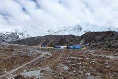 Imja Tse,海岛峰顶,营地,珠穆琅玛营地艰苦跋涉,尼泊尔 库存照片