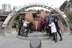Imjingak peace park, Sudogwon, Paju, South korea - outdoor art symbolizes the reunification of North and South Korea, near DMZ - o Royalty Free Stock Photography