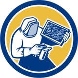 Imker Honey Farmer Bee Smoker Circle Retro- Stockbilder