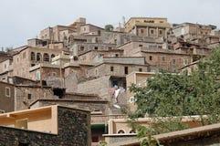 Imlil by och dal, höga kartbokberg, Marocko Royaltyfri Bild