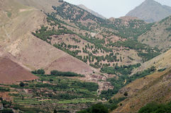 Imlil Village and Valley, High Atlas Mountains, Morocco Royalty Free Stock Images