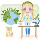 Imma è ecologo (biologo) Illustrazione di Stock