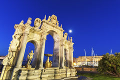 Immacolata fountain in Naples Royalty Free Stock Images