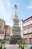 The Immacolata obelisk in Naples, Italy Royalty Free Stock Images