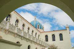 The Immaculata church of University of San Diego. San Diego, JUN 27: The Immaculata church of University of San Diego on JUN 27, 2018 at San Diego, California Stock Photo