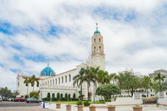 The Immaculata church of University of San Diego. San Diego, JUN 27: The Immaculata church of University of San Diego on JUN 27, 2018 at San Diego, California stock image