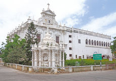 Immaculate colonial style St Pauls Church Diu gujarat india Royalty Free Stock Image