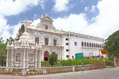 Immaculate colonial style St Pauls Church Diu gujarat india Stock Images