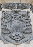 Immaculate Column Coat of Arms close to Salzburg Dom, Austria. Stock Photo
