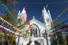 Immaculate Conception Cathedral during Chritmas time Stock Photography