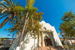 Immaculate conception church in San Diego old town. California royalty free stock image