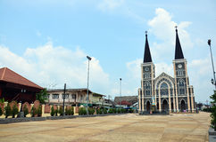 Immaculate Conception most beautiful church in Chanthaburi Royalty Free Stock Photography