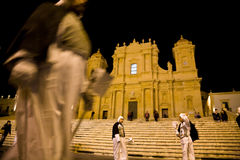 Immaculate Conception Parade, Noto, Sicily Stock Photo
