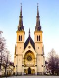 Immaculate Conception of Virgin Mary Church in Ostrava in Czechia. Immaculate Conception of Virgin Mary Church in Ostrava, Privoz in Czech Republich. Gothic Stock Photography