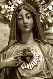 Immaculate Heart of Mary. Image of Immaculate Heart of Mary at the Collegiate of Saint Mary in Aranda de Duero, Burgos, Spain. July 26, 2016 Royalty Free Stock Images