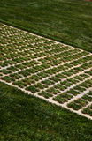 Immaculate lawn at the Citadel Victoria Gozo Stock Photo